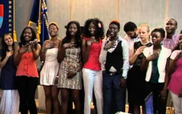 Foreign students sang Ukrainian songs