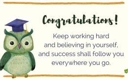 Congratulations for 3rd-year students!