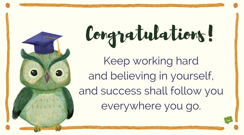 congratulations for 3rd-year students